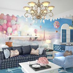 3D Sereo Heat Balloon Wallpaper Child Bedroom Living RoomTV Background Wall Decor Wallpaper Mural 3d room wallpaper landscape