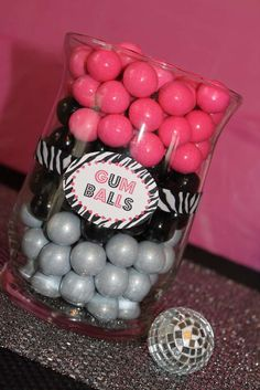 GlamFunk, zebra, pink Birthday Party Ideas   Photo 3 of 14   Catch My Party