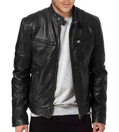 Shop a great selection of The Leather Factory Men's Sword Black Genuine Lambskin Leather Biker Jacket. Find new offer and Similar products for The Leather Factory Men's Sword Black Genuine Lambskin Leather Biker Jacket. Black Leather Bomber Jacket, Lambskin Leather Jacket, Biker Leather, Leather Men, Real Leather, Cowhide Leather, Motorcycle Leather, Retro Motorcycle, Sheep Leather