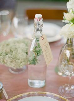 Cute idea for a favor; small bottles filled with olive oil & infused with different things. Chile peppers, rosemary etc.