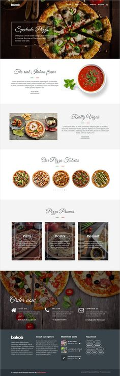 Bakob is a stunning #WordPress theme packed with the best #Pizza delivery #restaurant website building features with 22+ different homepage layouts download now➩ https://themeforest.net/item/bakob-creative-multipurpose-wordpress-theme/16821455?ref=Datasata