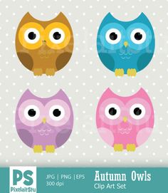 Autumn Owls Clip Art Graphics This listing is for Autumn Owls Digital Clip Art Graphics Set. This digital clip art is perfect for by PixelaitStu Owl Clip Art, Owl Vector, Craft Items, Handmade Crafts, Digital Illustration, How To Draw Hands, Card Making, Scrapbook, Owls