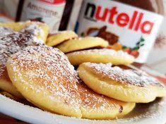 Reteta culinara Desert pancakes (clasica) din categoria Dulciuri. Specific Statele Unite. Cum sa faci Desert pancakes (reteta clasica) Hot Dog Buns, Hot Dogs, Nutella, Feta, Deserts, Bread, Healthy, Drinks, Kitchen