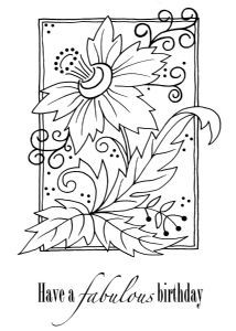 Woodware JGS298 Victorian Spray Clear Magic Single Stamp - UK stampman - stamp size 5.5x3.5 inches
