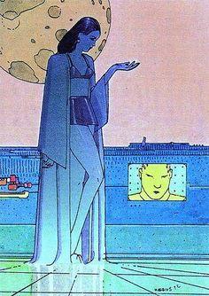 Old, new, borrowed, blue — scrappadoir: Moebius Jean Giraud, Comic Book Artists, Comic Artist, Comic Books Art, Moebius Art, Moebius Comics, Ligne Claire, Book Of Kells, Bd Comics
