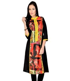 Pannkh Exclusive Cotton Multi Color Printed Kurti Printed Kurti, Vibrant, Sari, Prints, Cotton, Stuff To Buy, Shopping, Fashion, Saree
