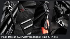 Tips and Tricks I have learnt from owning the Peak Design Everyday Backpack over the last month of everyday traveling photography use. Hacks, Backpacks, Tips, Design, Women's Backpack, Cute Ideas, Design Comics, Backpack, Backpacker