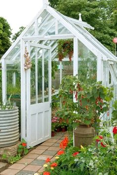 Landscape/Yard with Skylight, Glass panel door, Glass greenhouse, Traditional glass greenhouse sku: hg-bcts, Fence, Pathway