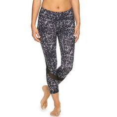 Women's Gaiam Om Mesh Insert Capri Yoga Pilates Leggings High Waist Size XS New #Gaiam #Capri