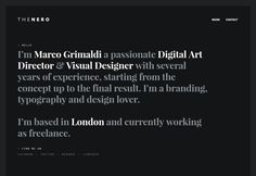 THENERO, flat design website