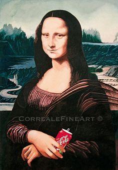Mona Lisa With Coke par CorrealeFineArt sur Etsy, $9.90
