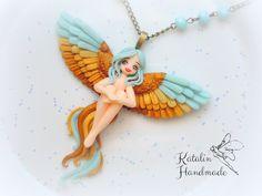 Bird of paradise by Katalin Handmade. #myfimo #polymerclaychibi #chibidoll #ooakfairy #birdofparadise #kawaiiclay #kawaiicharm #kawaiichibi #cuteclay