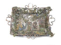 A beadwork basket English, 17th Century