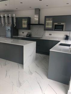 Stunning Compac Surfaces Marble Effect Unique Calacatta Quartz Kitchen Worktops . - Stunning Compac Surfaces Marble Effect Unique Calacatta Quartz Kitchen Worktops and Statuario tiles -
