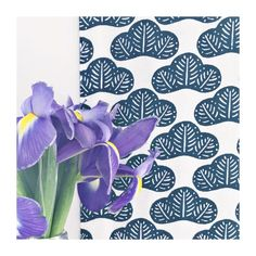 Two of my faves  iris flowers and Japanese prints