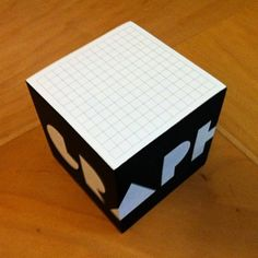 graph paper sticky notes