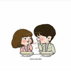 #StrongWomanDoBongSoon #ParkHyungSik #ParkBoYoung #jtbc #chibi #Koreandrama @freak_drawer