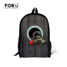3D Animals Horse Children Backpacks Daybag for Teenagers Boys Girls Kpop Kids Schoolbag Tiger Shoulder Book Bags Mochilas Esolar