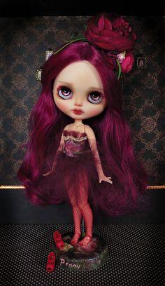reserved for Julie Peony custom Blythe doll by KarolinFelix