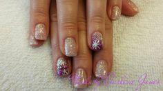 Winter snowflake nails by Darlene Jones