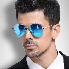 4e5fce80441e0 Top ImportadosÓculos de Sol Masculino Espelhado · Brand Design Unisex  Aviator Sunglasses Mens Women Sun Glasses Driving Vintage Retro Mirror  Sunglass Men ...