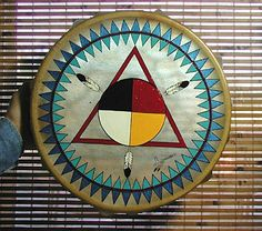 Authentic Native American Four Colors Drum and Beater by David Hoff-Grindstone Lakota Native American Tattoos, Native American Music, Native American Decor, Native American Quotes, Native American Symbols, Native American Pottery, American Indian Art, Native American Indians, American Women