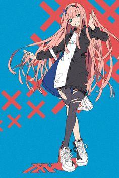Anime Waifu on - Anime Fan Art, Movie characters Fan Art Kawaii Anime Girl, Anime Art Girl, Manga Girl, Anime Girls, Querida No Franxx, Japon Illustration, Art Manga, Chica Anime Manga, Estilo Anime