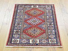 HAND-KNOTTED SUPER KAZAK TRIBAL DESIGN RED ORIENTAL CARPET  #rug, #carpet, #rugs, #handmade, #wool, #kazak, #store