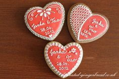 Red heart wedding favour