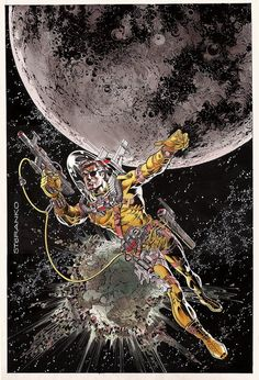 Nick Fury In space by Steranko.