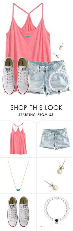 """""""Who all can't whistle because i honestly can't"""" by flroasburn on Polyvore featuring H&M, Kendra Scott, J.Crew and Converse"""