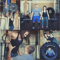 Crossfit Fitness - crossfit couple - couples who lift - fit couple - crossfit engagement - crossfit save the date - janellecater photography
