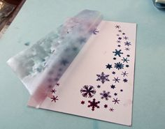 Quietfire Creations: Snowflakes Spray and Christmas is the Day Card ::  Stenciling Tutorial