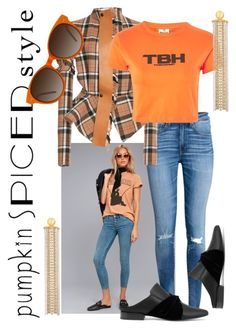 """""""Pumpkin Spice"""" by forgottenmelody on Polyvore featuring Free People, H&M, Loewe, The Ragged Priest, Goossens, EyeBuyDirect.com and pumpkinspice"""