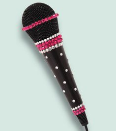 #DIY Glam-It-Up Microphone --- Perfect project for a Dress-Up bin! Directions available online at Joann.com