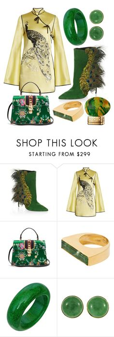 """""""#PolyPresents: Party Dresses"""" by nova5ta5ia ❤ liked on Polyvore featuring Paul Andrew, Attico, Gucci, Katerina Makriyianni, House of Oud, contestentry and polyPresents"""