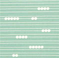 green birch organic fabric from the USA lines and dots