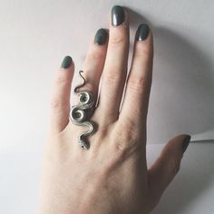 Serpent Ring, Sterling Silver