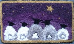 Hooked rug pattern, but could probably be adapted to a punch needle