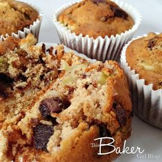 This Baker Girl Blogs:  Apple Chocolate and Cinnamon Muffins