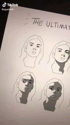 TikTok Credit: @sparketh Digital Painting Tutorials, Digital Art Tutorial, Art Tutorials, Art Drawings Sketches Simple, Pencil Art Drawings, Drawing Tips, Digital Art Beginner, Ipad Art, Learn Art