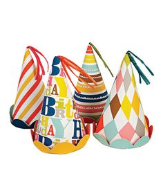 Another great find on #zulily! 'Happy Birthday' Party Hat - Set of Eight #zulilyfinds