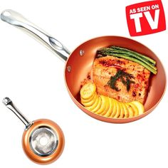 As seen on TV, this versatile pan allows you to cook food six different ways and features Cerami-Tech nonstick interior coating for effortless food release. Tough Cerami-Tech nonstick cooking surface provides effortless food release and allows you to cook food without the need for oil and butter Durable ceramic exterior features a stainless steel induction plate that conducts heat fast without any hotspots and retains heat longer.   eBay!