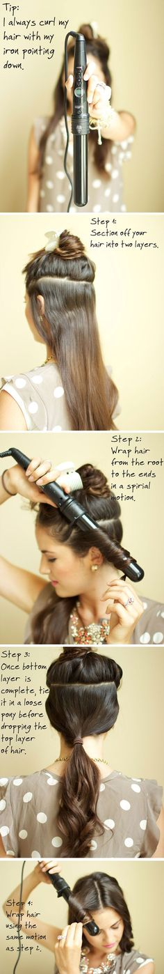 how to curl your hair hacks: