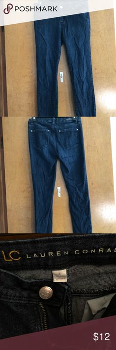 Lauren Conrad Skinny Jeans Lauren Conrad skinny jeans. Dark wash. Size 4. Only worn a handful of times. Little wrinkly from being in the dresser but wrinkles would easily wash out. Always open to offers!! LC Lauren Conrad Jeans Skinny