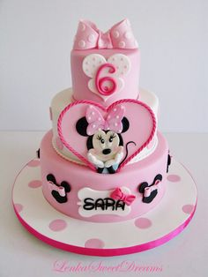 Minnie Mouse Birthday Girl Cake on satinice.com | Lenka Sweet Dreams