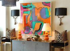 Color Dimension Original Art by Orbedonna - Mecox Gardens #interiordesign #home #decor #design #PalmBeach #MecoxGardens