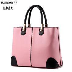 138d541d39 HNSF 100% Genuine leather Women handbags 2017 New bag lady in black and  white ladies fashion handbags Shoulder Messenger Handbag