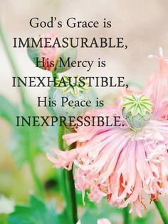 God's grace is immeasurable,His mercy is inexhaustible, His peace is inexpresssible. ✞
