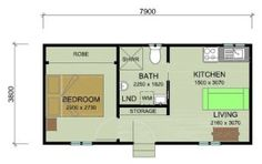 Our Granny Flat Designs are developed to suit any budget and property. Looking for Granny Flat Floor Plans? Browse our 2 & 3 bedroom granny flat plans. Cabin House Plans, Small House Plans, House Floor Plans, Granny Flat Plans, Backyard House, Backyard Studio, Bungalow, T2 T3, Granny Pod